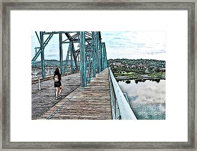 Chattanooga Footbridge Framed Print