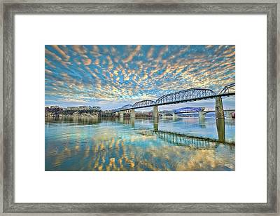 Chattanooga Has Crazy Clouds Framed Print