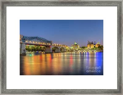 Chattanooga Market Street Bridge At Twilight I Framed Print
