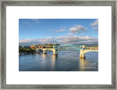 Chattanooga Market Street Bridge I Framed Print by Clarence Holmes