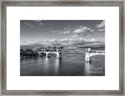 Chattanooga Market Street Bridge II Framed Print by Clarence Holmes