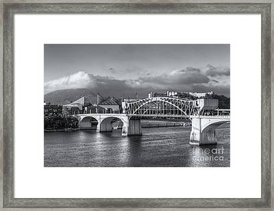 Chattanooga Market Street Bridge Iv Framed Print by Clarence Holmes