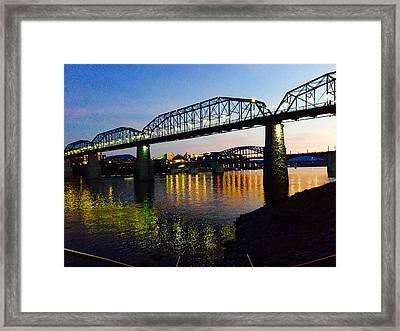 Chattanooga Nites Framed Print by Steven Lebron Langston