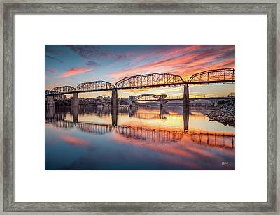 Chattanooga Sunset 5 Framed Print