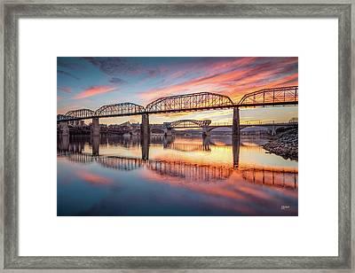 Chattanooga Sunset 5 Framed Print