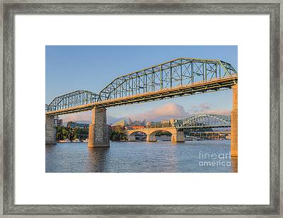 Chattanooga Tennessee River Bridges I Framed Print by Clarence Holmes