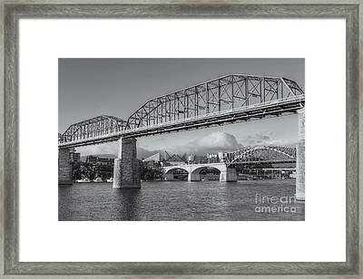 Chattanooga Tennessee River Bridges II Framed Print by Clarence Holmes