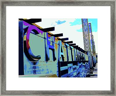 Chattanooga Tennessee Sign Framed Print