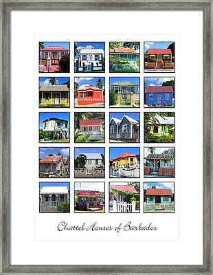 Chattel Houses Of Barbados Framed Print by Barbara Marcus