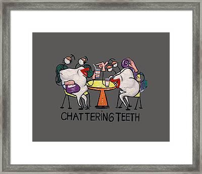 Chattering Teeth T-shirt Framed Print