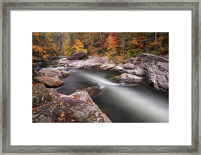 Chattooga River At Hurricane Rapid Framed Print by Derek Thornton