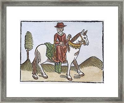 Chaucer: Wife Of Bath, C1484 Framed Print by Granger