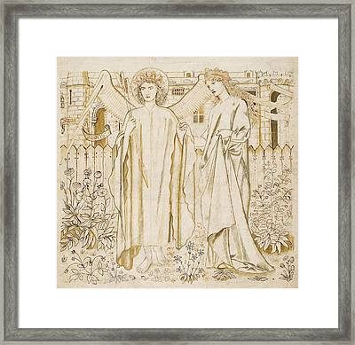 Chaucers Legend Of Good Women Amor And Alcestis  Framed Print