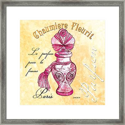 Chaumiere Fleurit Framed Print