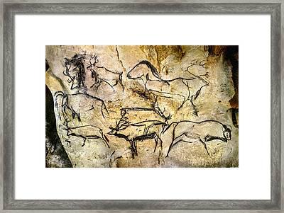 Chauvet Deer Framed Print