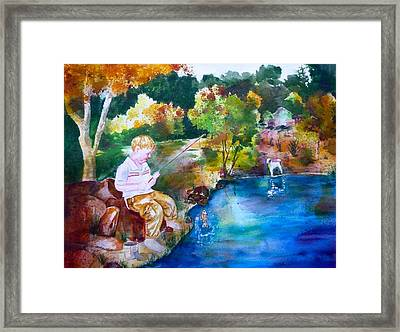 Chayton's Lake In The Woods Framed Print