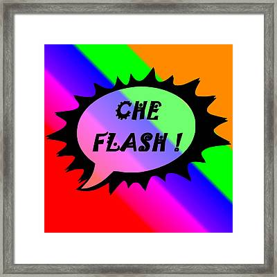 Che Flash Framed Print