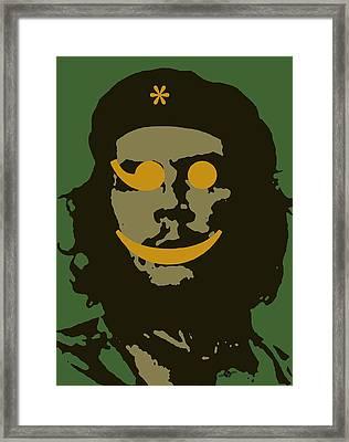 Che Guevara Emoticomunist 1 Framed Print by Tony Rubino