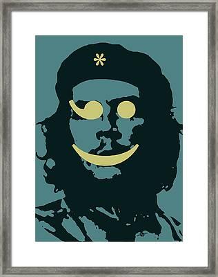 Che Guevara Emoticomunist 2 Framed Print by Tony Rubino