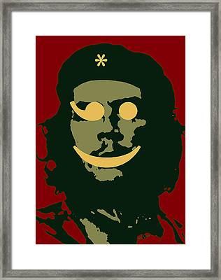Che Guevara Emoticomunist 3 Framed Print by Tony Rubino
