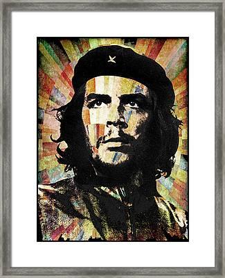 Che Guevara Revolution Gold Framed Print