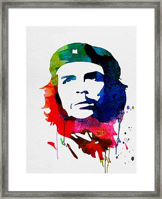 Che Guevara Watercolor 2 Framed Print by Naxart Studio