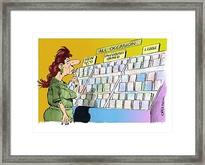 Cheap Sentiment Framed Print by Bruce Bolinger
