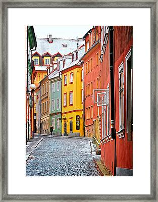 Cheb An Old-world-charm Czech Republic Town Framed Print by Christine Till