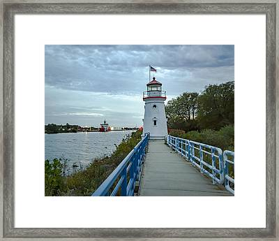 Cheboygan Crib Lighthouse Lake Huron, Lower Peninsula Mi Framed Print