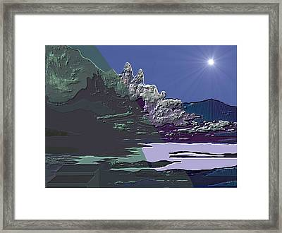 Framed Print featuring the digital art 1978 - Nowhere  by Irmgard Schoendorf Welch