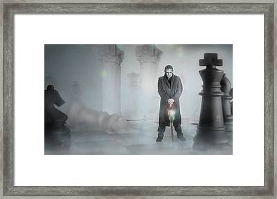 Check Mate Chess Set Framed Print by Ronel Broderick
