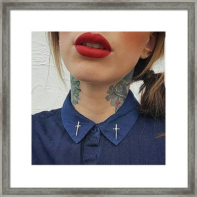 Check Out These Dagger Collar Studs And Framed Print by Natalie Anne