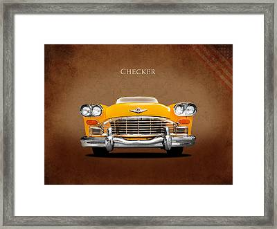 Checker Cab Framed Print