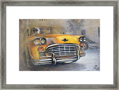 Checker Taxi Framed Print