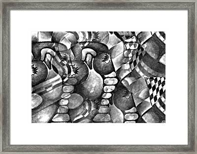 Checkerboard Framed Print