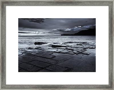 Checkerboard Squares Framed Print by Mike  Dawson