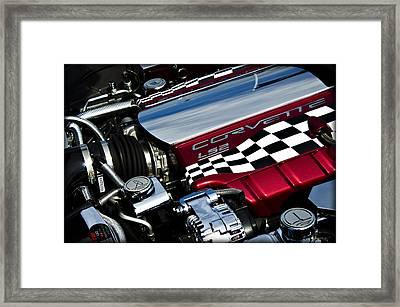 Checkered Flag Framed Print