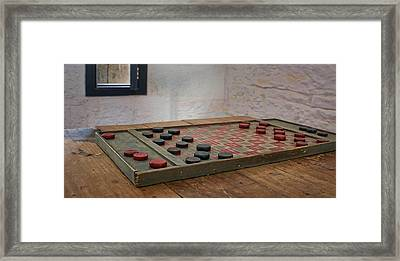 Checkered Past - Checkers Framed Print
