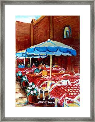 Checkered Tablecloths Framed Print by Carole Spandau