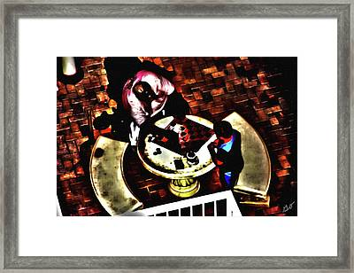 Checkers After Dark Framed Print