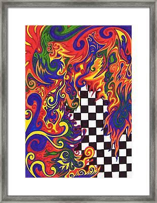 Checkers  Framed Print by Mandy Shupp