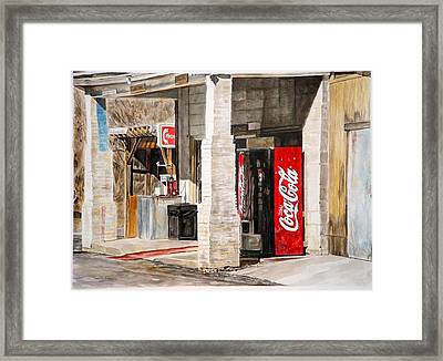 Checking Station Framed Print by Thomas Akers