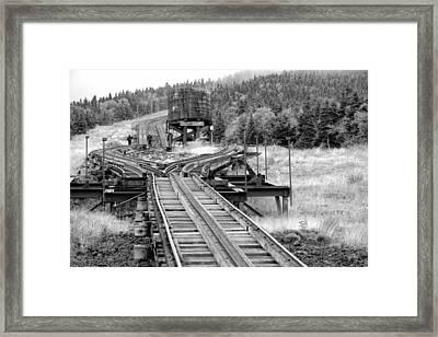 Checking The Rails Framed Print