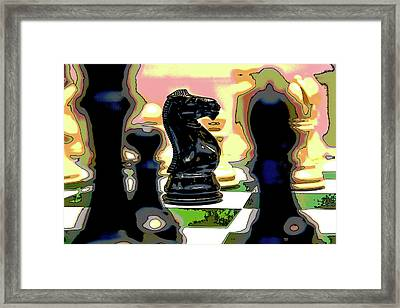 Checkmate Framed Print by Charles Shoup