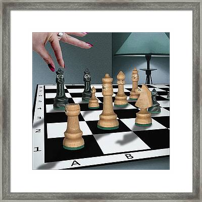 Checkmate Framed Print by Marty Garland