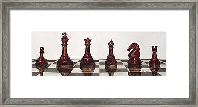 Checkmate Framed Print by Michelle Lee Rigell