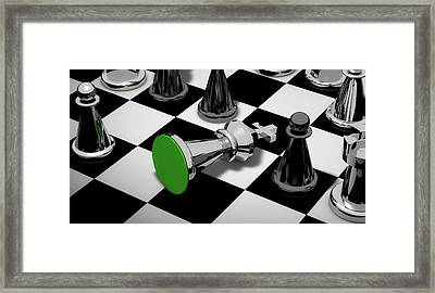 Checkmate Framed Print by Piro4d