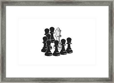 Checkmate Framed Print by Ricardo Calvente