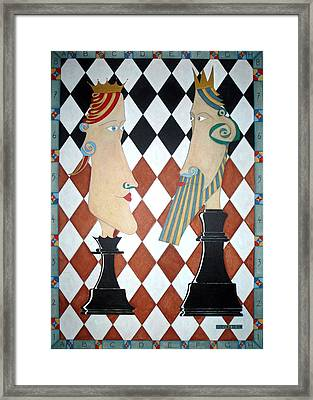 Checkmate Framed Print by Shay Mc Veigh
