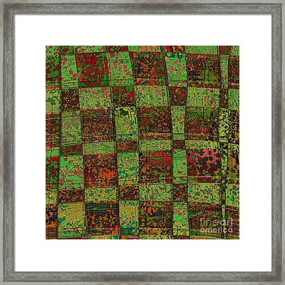Checkoff Abstract Pattern Framed Print by Edward Fielding